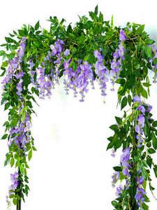 Vine Decor Foliage Trailing Flower-Flowers Garland-Plants Artificial-Wisteria Office
