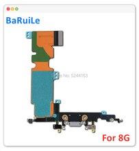 Baruile 5 pçs porto de carregamento cabo flexível para iphone 8 plus 8g 8 plus usb doca conector carregador áudio jack peças reparo