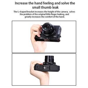 Image 3 - Uurig R016 L Plate Cho Canon G7X Mark III Micro Mở Rộng Phát Hành Nhanh Giá Đỡ Với Giày Lạnh Cầm Tay