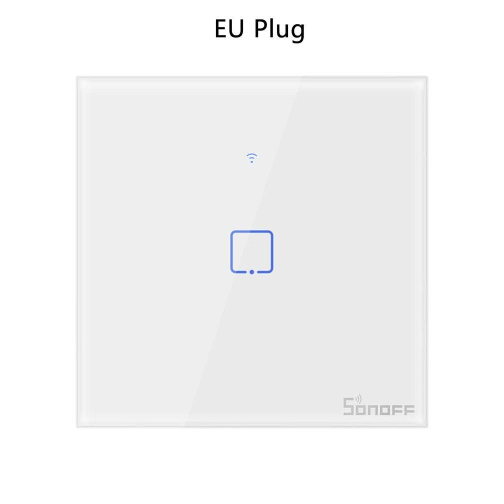 T0/T1/T2/T3 EU STECKER TX Wifi Touch Wand Licht Drahtlose Schalter Smart Home 1/ 2/3 Gang Stimme/APP Fernbedienung Mit Alexa Google