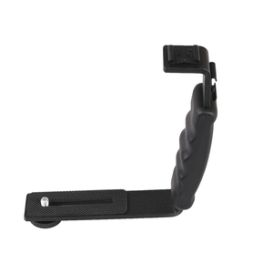 Image 3 - Camera Accessories L Flash Bracket With 2 Hot Shoe Mounts For Camcorder Microphone Dslr Canon/Nikon/Sony/Yongnuo/Flash Stand