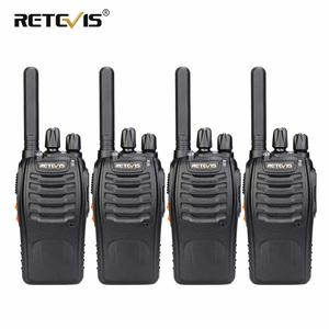 Walkie Talkie 4pcs Retevis H777 Plus PMR446 Walkie-Talkies PMR Radio FRS H777 Handy Two-Way Radio Station USB Charging For Hotel