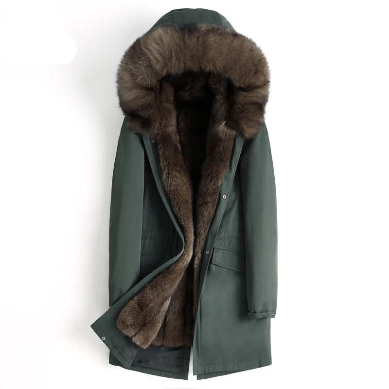 Мужская зимняя куртка, пальто из натурального меха, парка из натурального меха лисы, мужская одежда 2019, мужские роскошные меховые теплые кур