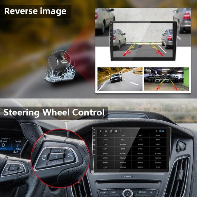 2 Din Android 8.1 2G + 32G 4G netto 1/9/10 Cal Radio samochodowe multimedialny odtwarzacz wideo 2Din nawigacja GPS FM dla Nissan Kia Honda VW