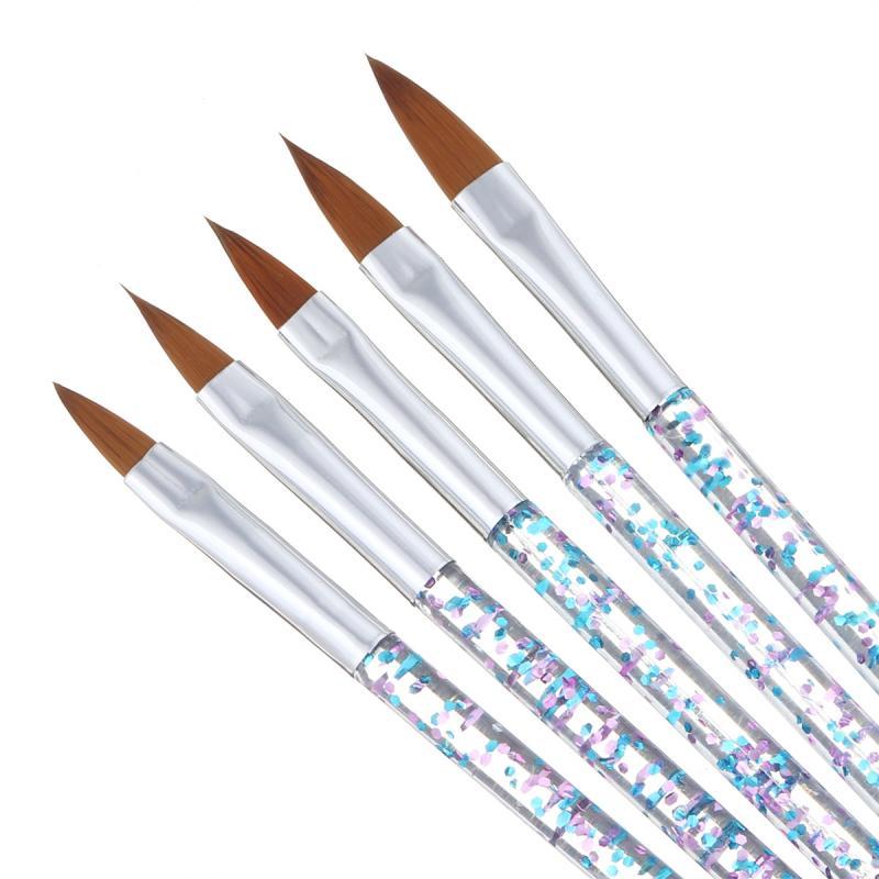 5PCS Nail Crystal Pen Manicure brush Carved Pen Sequin Rod Nail Brush Set
