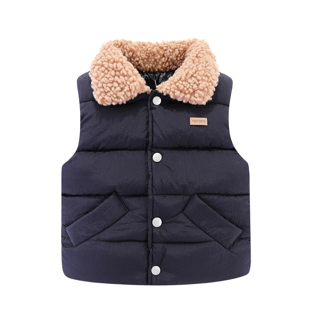 Mudkingdom Kids Jacket Vest Autumn Winter Sleeveless Wool Lapel Colar Children Outerwear 5