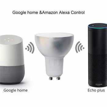 Lonsonho WiFi Led Lamp Smart Bulb Light E27 GU10 GU5.3 220V Tuya Smart Life Wireless Remote Control Compatible Alexa Google Home
