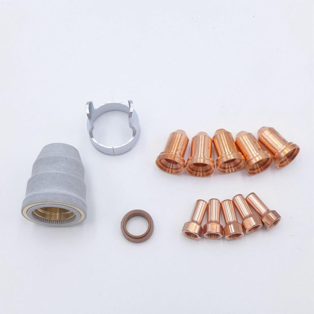 Tip Electrode Kit Fit CNC Non HF Pilot Arc IPTM80 Plasma Cutting Straight Torch 80A CUT55 HC6000 HC7000 HC8000