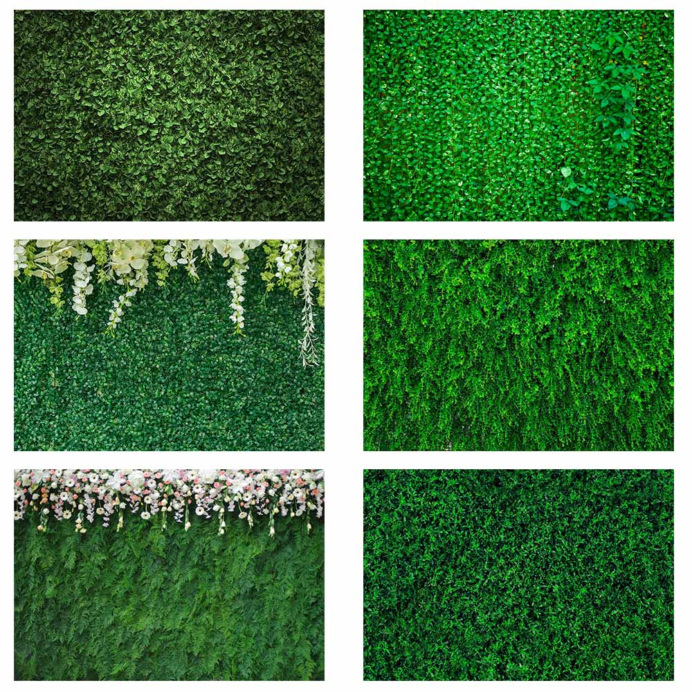 Mocsicka Green Grass Leaves Photography Backdrop wedding spring nature flower Bridal Shower Photo Booth Background photocall