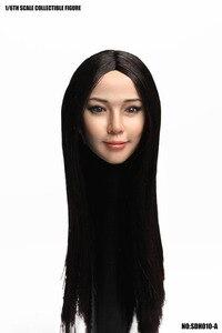 Image 2 - SUPER ANATRA SDH010 Testa Sculpt 1/6 Bilancia Asiatico Testa Femminile Intagliare Con I Capelli per 12in Tbleague Phicen JIAOUL Bambola Giocattolo