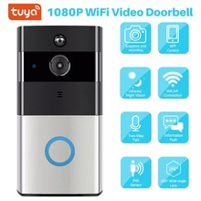 Works with Alexa Google Chromecast 1080P Battery Powered Smart WiFi Smart Video Doorbell Tuya Cloud Storage Doorbell Camera cheap suntex HISILICON After The Loading Machine Integrated Class 6 105°-140° Car DVR 1920x1080 Motion Detection Cycle Recording