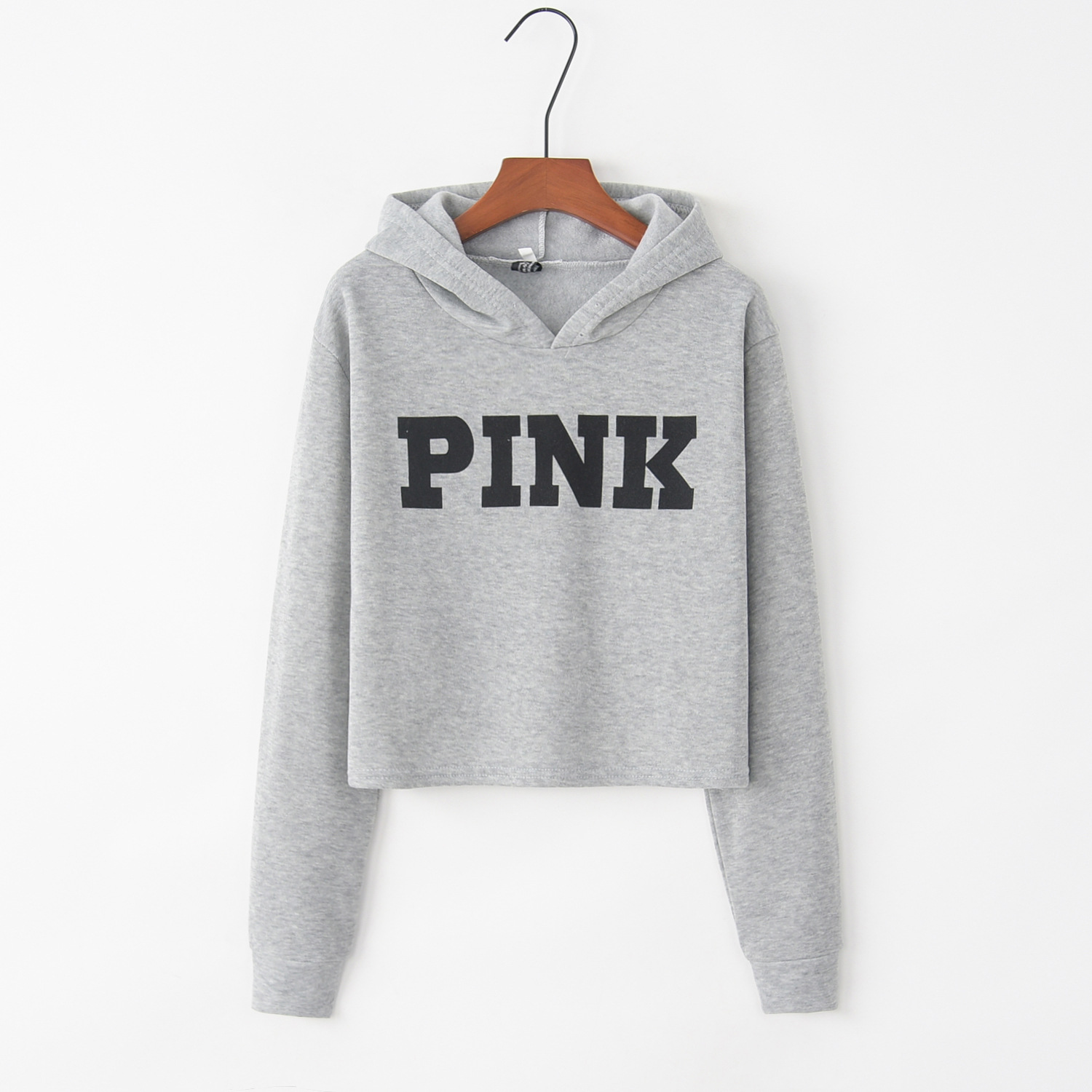 Letter Printed Pink 2020 New Design Hot Sale Hoodies Sweatshirts Women Casual Kawaii Harajuku Sweat Girls European Tops Korean