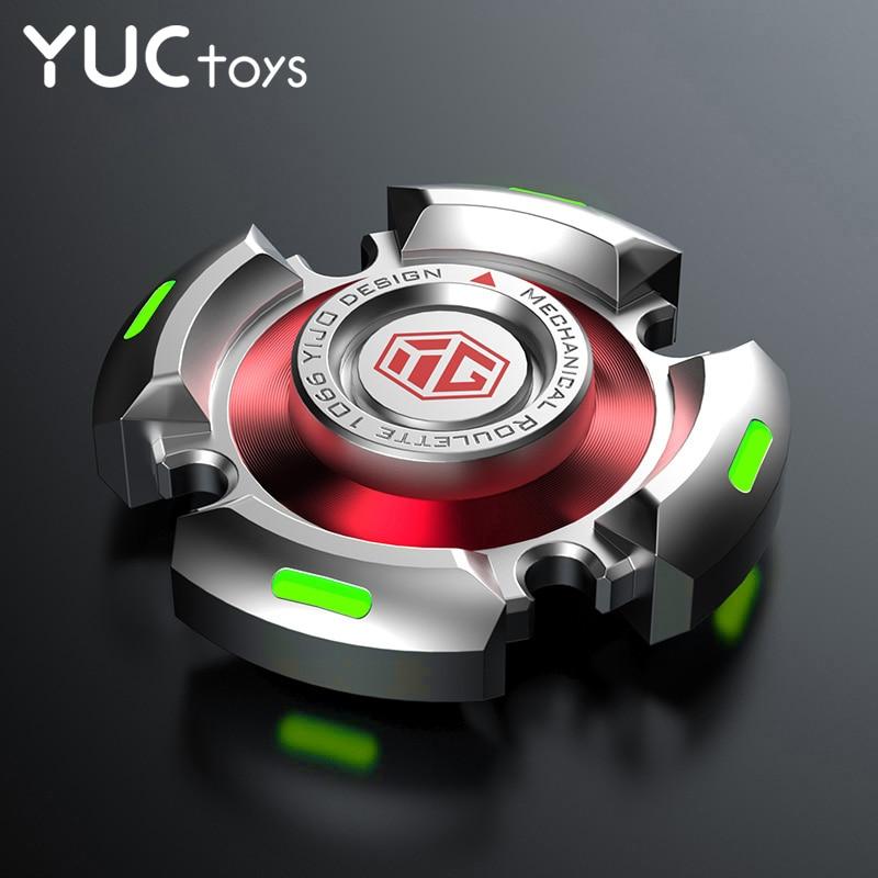 Metal Fidget Spinners Toys R188 Adults Senior Gyro Bearing Relieve-Stress Luminous