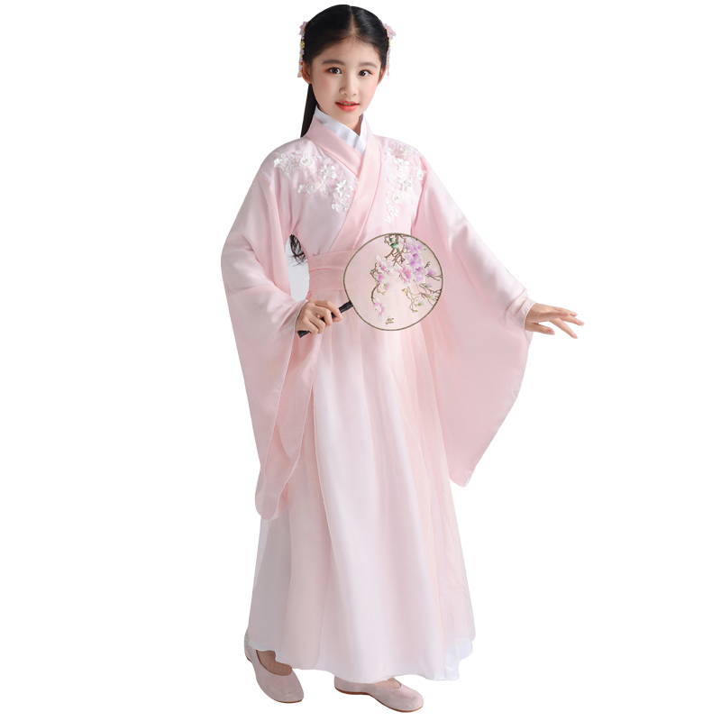 Traditional Chinese Dance Costume Children's Ancient Clothing Pure And Fresh Elegant Fairy Clothing Children's Princess Hanfu