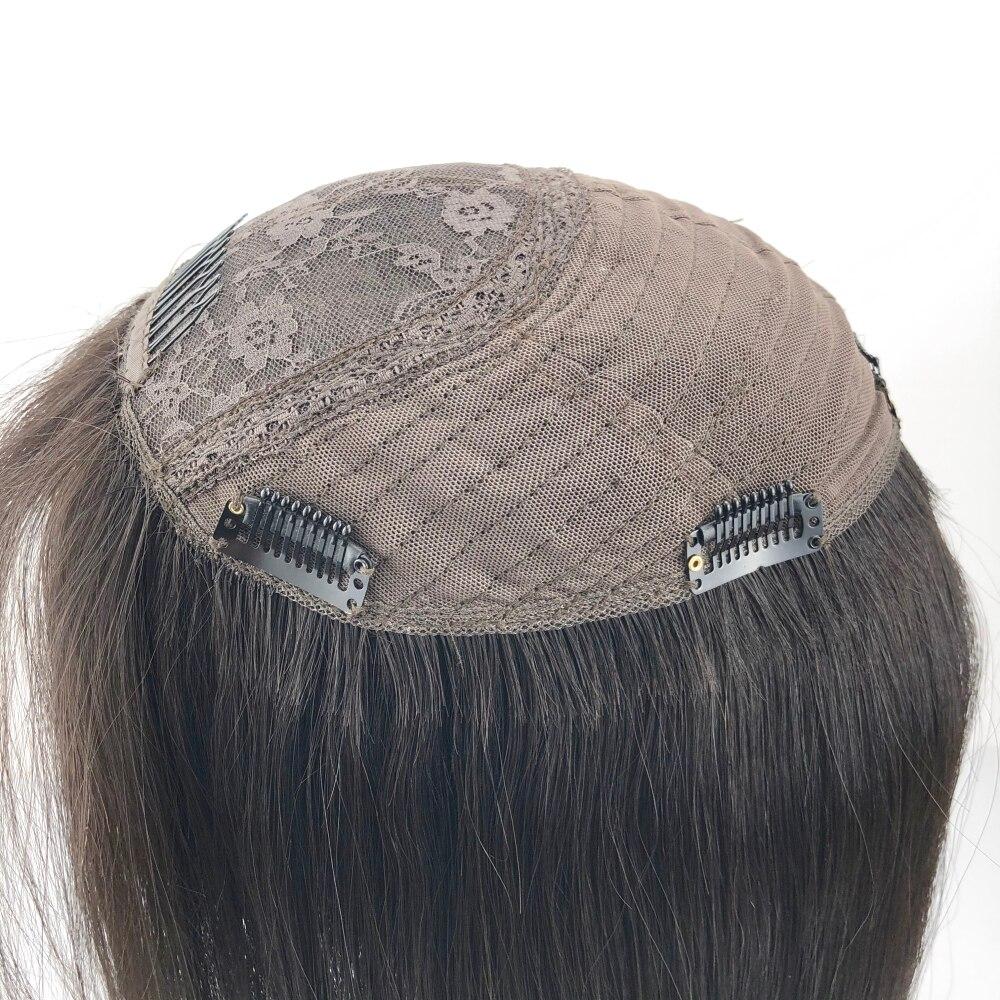 hairpiece com franja leve ondulado