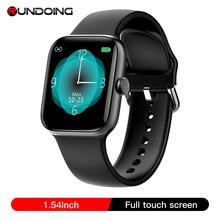 RUNDOING NY17 Full Touch Screen relógio inteligente com liga de alumínio Case IP68 rosa à prova d água para as mulheres smartwatch para Android IOS