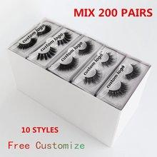 Atacado vison cílios 5/10/50/200 pçs 3d vison cílios naturais pacote cílios postiços maquiagem cílios postiços no volume