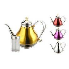 Чайник из нержавеющей стали, чайник, ресторанный гостиничный чайник, Корт, горшок, переносная посуда для индукционной плиты, чайник, Кофеварка, чайник, кемпинг