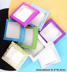 Image 4 - 20 set/lot Packing box for eyelash blank eyelashes package Multicolor paper box white tray 25mm Eyelashes DIY flash packing box