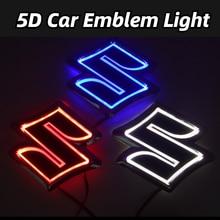 شارات زخرفية للسيارة 5D ، شعار LED ، ضوء خلفي ، لسوزوكي سويفت ، ألتو عربة R Jimny ، ملحقات تزيين السيارة