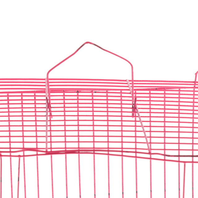 2 Pieces Small Pet Hamster Rabbit House Folding Cage Small Animal Crate 3