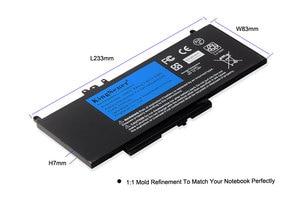 Image 4 - Kingsener bateria para laptop g5m10, bateria portátil para dell latitude e5250 e5450 e5550/2/1ky05/7.4v/5wh, ferramenta grátis