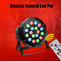 Remote Control Dj Led Par Light 18pcs RGB LED Color Change Lite Fog Machine Stage Lighting Wedding Disco KTV Club