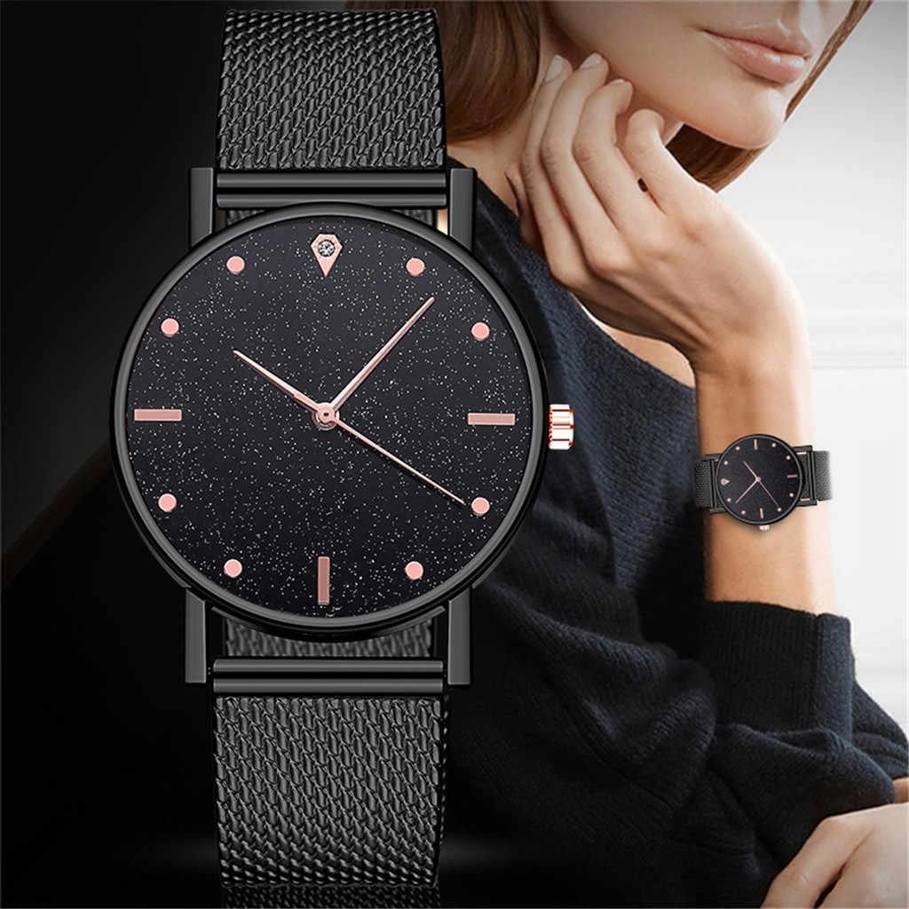 ساعة نسائية فستان سوار فولاذي غير قابل للصدأ أنالوج كوارتز ساعة يد موضة فاخرة للسيدات ذهبي وردي ساعة تناظرية 533