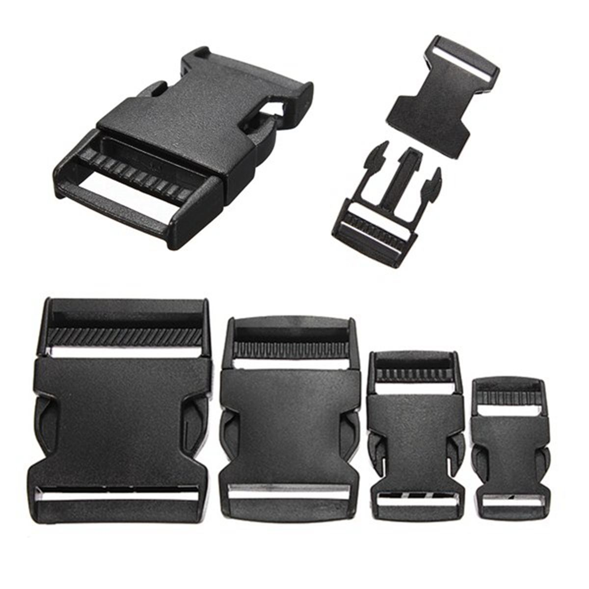 5pcs 20/25/40/50mm Black Plastic Side Quick Release Clasp Buckles Webbing Strap Safety Buckle Accessories Release Clasps