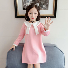 New Autumn Casual 2-8T Baby Girls Clothes Long Sleeve Cute Toddler Girl Dress Kids Toddler Pageant Princess Sundress #m 2018 brand new toddler infant kids child party wedding formal dresses rose girl princess dress flower chiffon sundress kids 2 8t