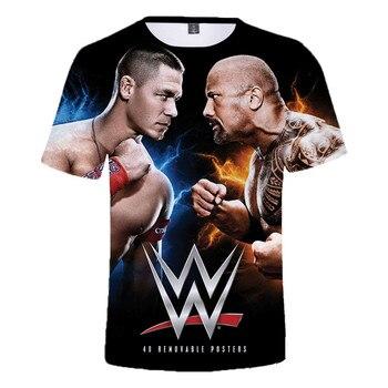 2021 Summer New WWE John Cena Summer T-shirt Kids Women 3D Effect Men T-shirt Street Clothing Dray Anderson Johnson Anime 1