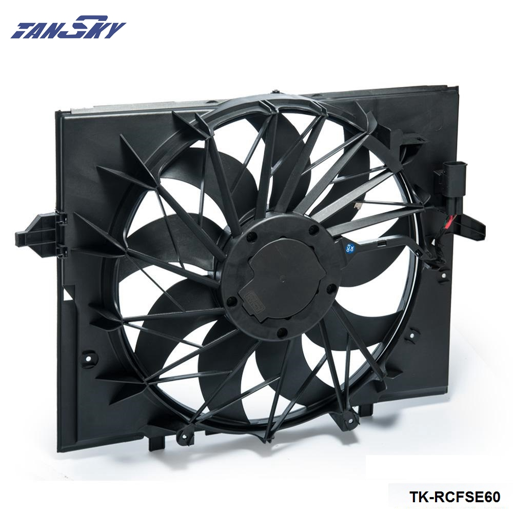 Sport Radiator <font><b>Cooling</b></font> <font><b>Fan</b></font> Brushless <font><b>Motor</b></font> 17427543282 For <font><b>BMW</b></font> E60 5 Series 525 530 545 645 E65 750 TK-RCFSE60 image