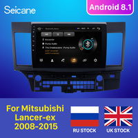 Otomobiller ve Motosikletler'ten Araba Multimedya Oynatıcı'de Seicane Mitsubishi Lancer ex için 2008 2009 2010 2011 2012 2013 2014 2015 Android 8.1 10.1 inç araba GPS ses multimedya oynatıcı