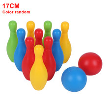 Toddler Smooth Kindergarten Parent Child Games Indoor Outdoor Early Teaching Colorful Non Toxic Home Funny Bowling Toy Set(China)
