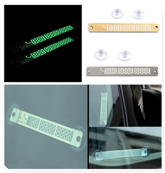 Car light temporary parking sign night phone number luminous for BMW all series 1 2 3 4 5 6 7 X E F-series E46 E90 F09 image