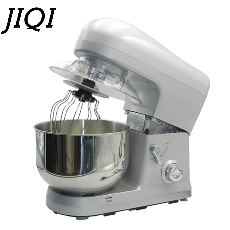 JIQI 5L Electric Automatic chef machine 800W food mixer Egg beater cake dough bread mixer stand