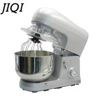 Jiqi 5l elétrica automática máquina do chef 800 w misturador de alimentos ovo batedor bolo massa pão misturador suporte liquidificador cozinha comercial 220 v|Batedeiras| |  -