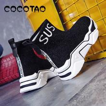 Stretch Socks Shoes Woman Warfare Red The New 2019 High Permeability Increased For Leisure In Joker Sneakers  Winter Women Boots