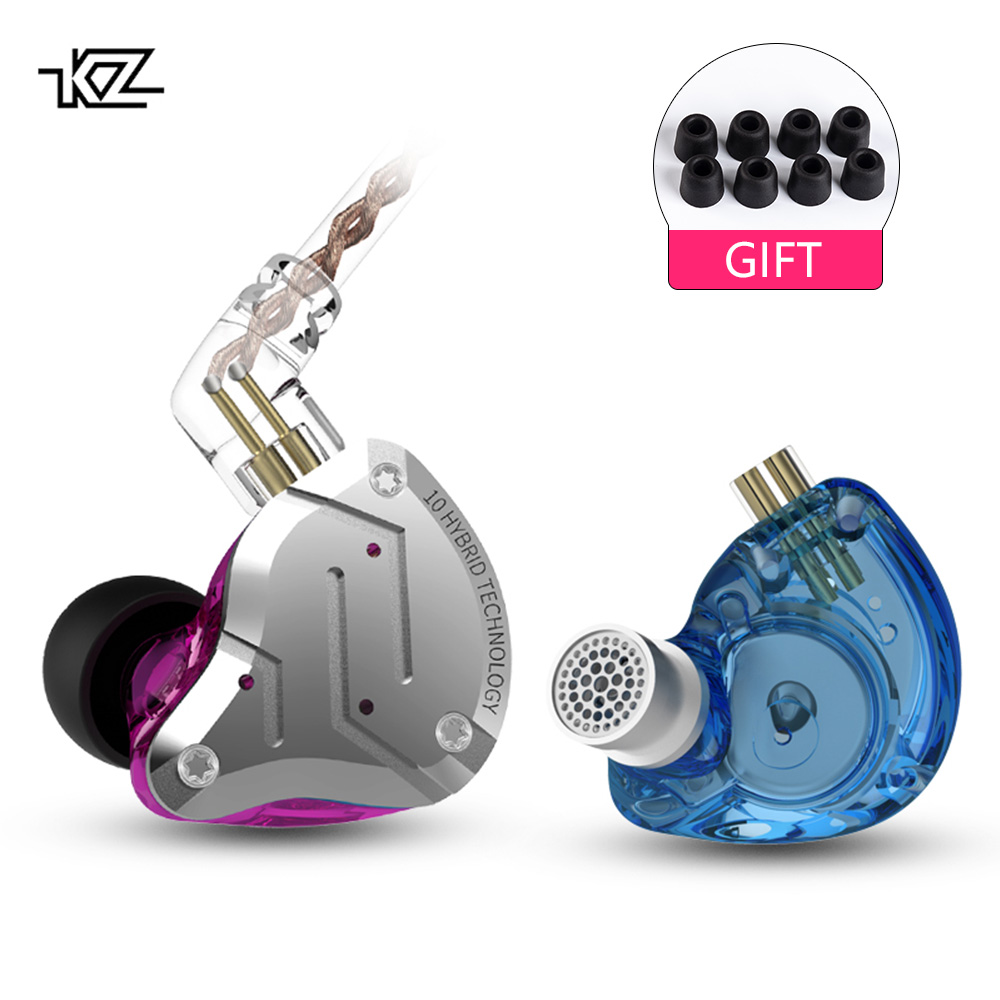 KZ Headphone HIFI Dj-Monitor Hybrid AS10 In Ear Cca C10 ZST 4BA Earbuds 1DD Pro C16