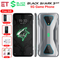 New Xiaomi Black Shark 3 Pro 5G Game Mobile Phone Global Version 7.1 12GB 256GB Snapdragon 865 64MP 5000mAh Android Smart phone