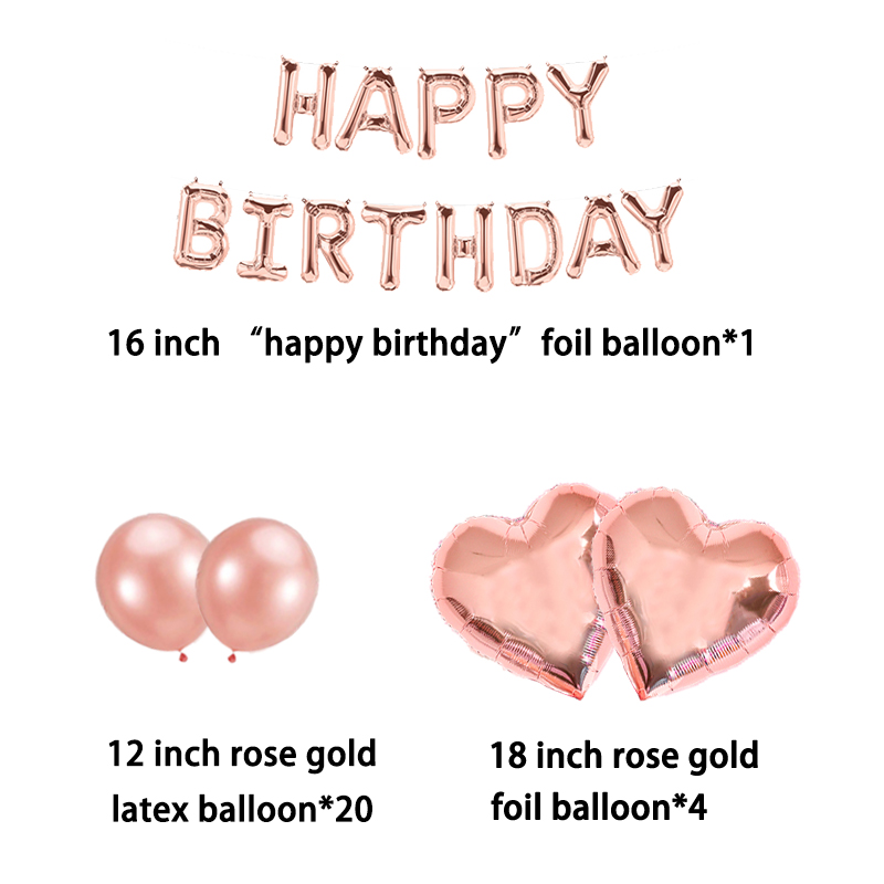 Image 3 - 16inch Happy Birthday Foil Balloons Banner Sweet 16 Party Decorations Baby Kids Adult Boy Girl My First 1st One Year Supplies-in Banners, Streamers & Confetti from Home & Garden