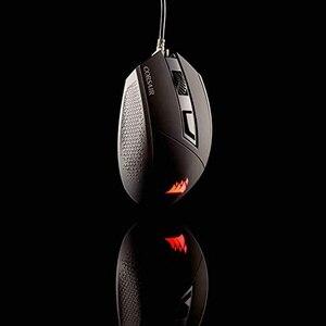 Игровая мышь Corsair KATAR, 8000 DPI, подсветка, красная Проводная оптическая мышь