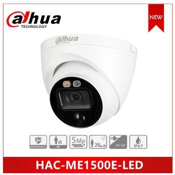 Dahua 5MP Camera HDCVI Active Deterrence Camera HAC-ME1500E-LED 2.8mm 3.6mm fixed lens Smart IR 20m Security camera dahua 4mp wdr hdcvi ir bullet cctv camera hac hfw2401r z ire6 ip67 varifocal lens 2 7 12mm motorized lens ir60m smart 120db 3dn