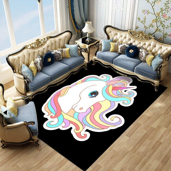 Unicorn Cats Cartoon Entrance Floor Mat Giraffe Bathroom Rug Animals Outddor Indoor Doormat Rectangle Kitchen Home Anti Slip Mat