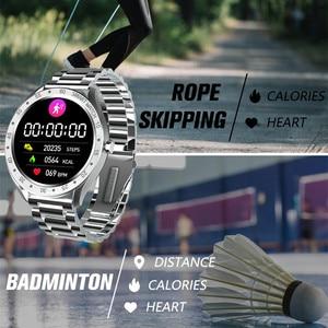 Image 3 - Reloj inteligente F13 de acero inoxidable para hombre, reloj inteligente deportivo completamente táctil, con control del ritmo cardíaco y Contador de pasos