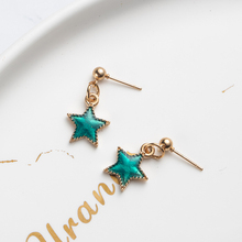 korea vintage green star antique boho fashion long earrings 2019 Dangle Drop Earrings for Women gift bride Jewelry Accessories