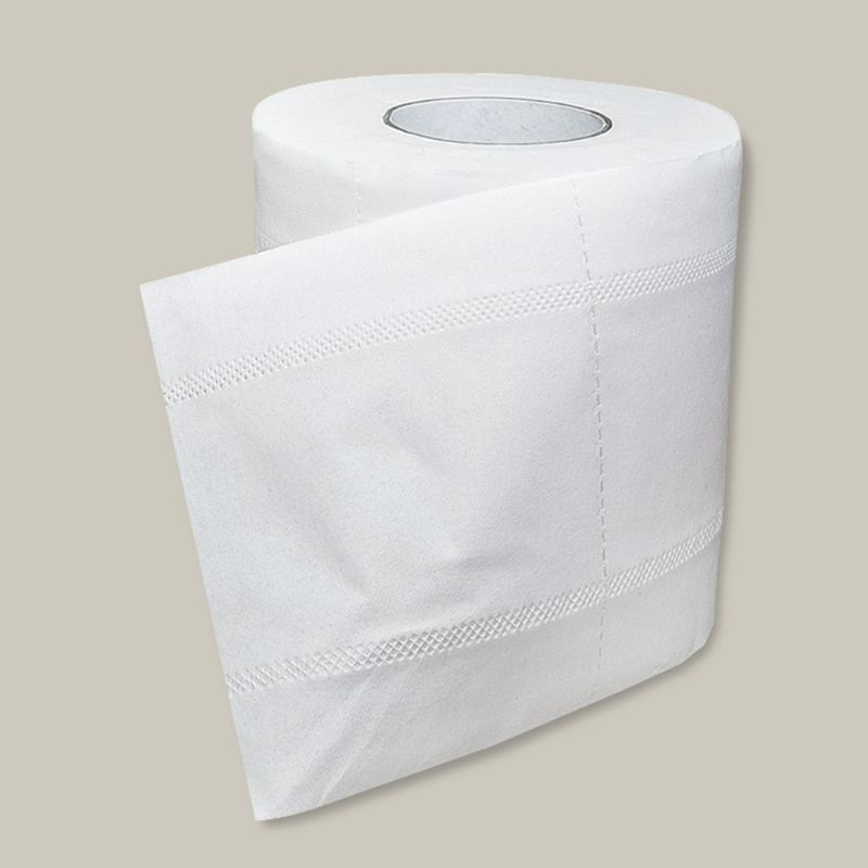 1 Roll Toilet Paper No Fluorescent Agent Soft Stronge 4-Ply Sheets Bath Tissue 50JF