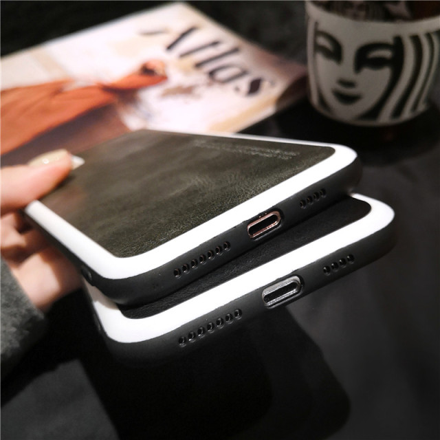 NEW Business Retro Leather Soft Matte Phone Case For iPhone