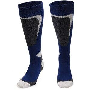 Image 3 - COPOZZ marka kayak çorap kış Snowboard spor çoraplar erkekler & kadınlar kalın sıcak bisiklet çorap nem emme yüksek elastik çorap