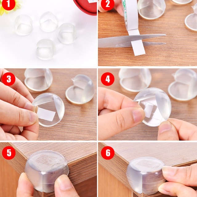 Child Baby Safety Silicone Protector Table Corner Protection Cover Children Anticollision Edge Corner Guards Furniture Protector 5